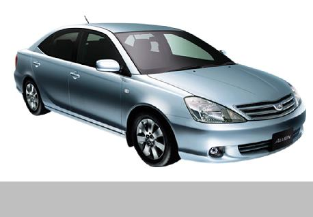 Toyota Allion Car for Rent at Casons Rent a Car