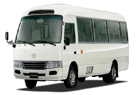 Toyota Coaster for Rent at Casons