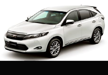 Toyota Harrier rentals with Casons