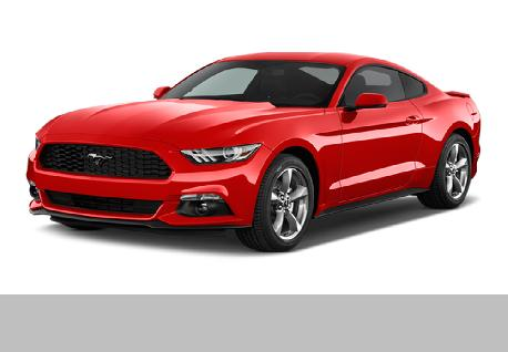 Red Ford Mustang Fully Loaded at Casons
