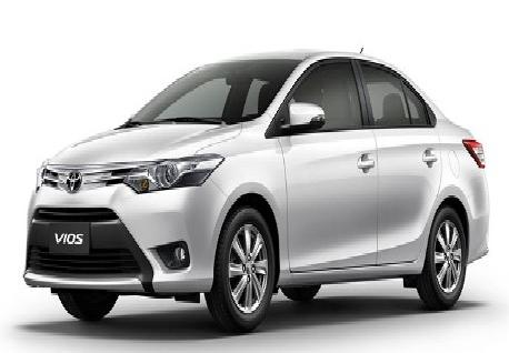 Toyota Vios for Rent with Casons Rent a Car